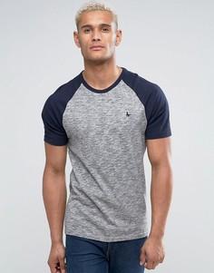Серая меланжевая футболка с рукавами реглан Jack Wills - Серый