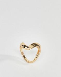 Кольцо-завиток ASOS - Золотой