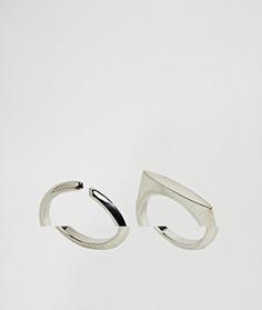 2 кольца ASOS - Серебряный