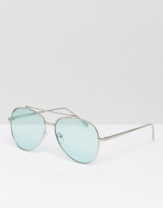 Солнцезащитные очки-авиаторы со стеклами мятно-зеленого цвета Skinnydip - Зеленый