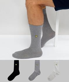 Набор из 3 пар носков (черные / серые) Lyle & Scott - Мульти