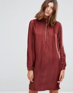 Свободное платье с высоким воротом Just Female - Красный