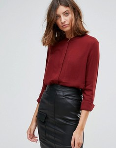 Рубашка без воротника Just Female - Красный