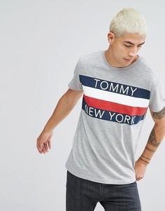 Серая меланжевая футболка Tommy Hilfiger Denim - Серый