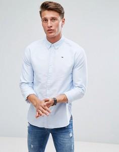 Голубая оксфордская рубашка с логотипом Tommy Hilfiger Denim - Синий