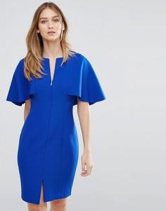 Облегающее платье с накидкой на спине Ted Baker - Синий