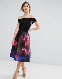 Платье с открытыми плечами Ted Baker Impressionist - Черный