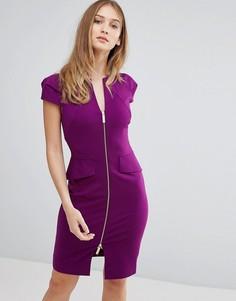 Структурированное платье-футляр Ted Baker - Фиолетовый