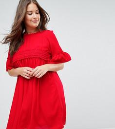 Свободное платье ASOS CURVE - Красный
