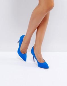 Туфли-лодочки в замшевом стиле New Look - Синий