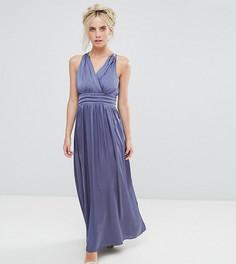 Платье макси с запахом Little Mistress Petite - Фиолетовый