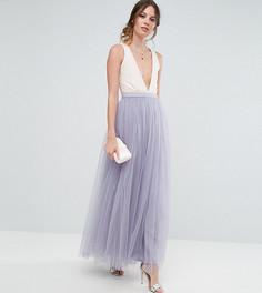 Юбка макси из тюля Little Mistress Tall - Фиолетовый