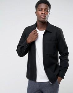 Шерстяная рубашка Weekday - Черный
