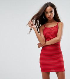 Облегающее платье в полоску Missguided Petite - Красный
