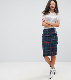 Юбка-карандаш миди в клетку Missguided Tall - Мульти