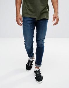 Темные супероблегающие джинсы Lee Malone - Синий