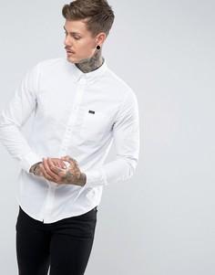 Белая оксфордская рубашка классического кроя на пуговицах с карманом Lee - Белый