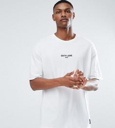 Белая оверсайз-футболка с логотипом Sixth June TALL - Белый