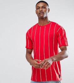 Красная оверсайз-футболка в полоску Sixth June TALL - Красный