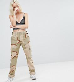 Камуфляжные брюки в стиле милитари Reclaimed Vintage Revived - Бежевый