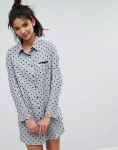 Ночная сорочка в крапинку Esprit - Серый