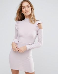 Платье с оборками Lasula - Фиолетовый