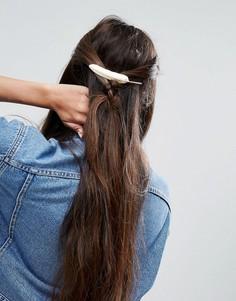 Заколка для волос с пером ASOS - Золотой