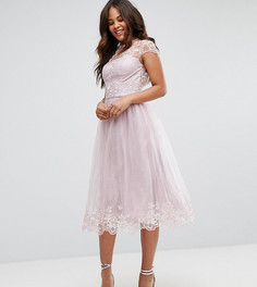 Платье миди для выпускного Chi Chi London Tall - Коричневый
