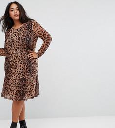 Платье с леопардовым принтом Junarose - Мульти