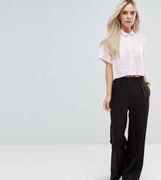 Широкие брюки со складками ASOS PETITE - Черный