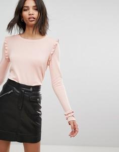 Топ с оборками Vero Moda - Розовый