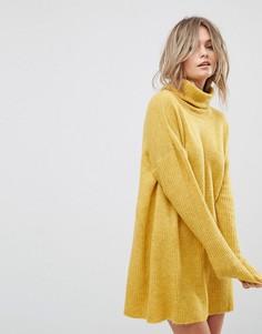 Платье-джемпер с отворачивающимся воротником Vero Moda - Золотой