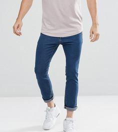 Синие узкие укороченные джинсы Liquor N Poker - Синий