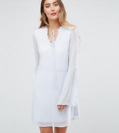 Чайное платье с плиссированными рукавами клеш Vero Moda Tall - Синий