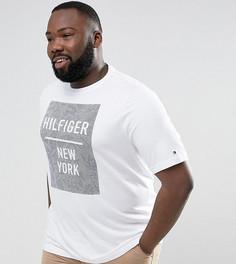 Белая футболка классического кроя с принтом Tommy Hilfiger PLUS Baxter - Белый
