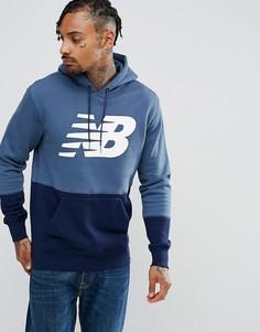 Худи темно-синего цвета New Balance Essentials MT73529_VIM - Темно-синий