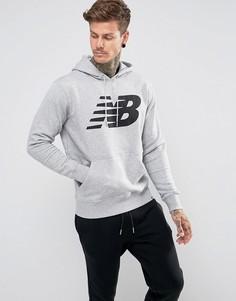 Худи серого цвета New Balance Essentials MT73529_AG - Серый