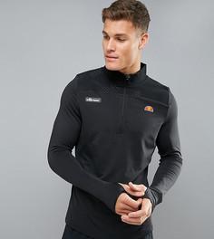 Черный спортивный лонгслив с молнией до груди Ellesse - Черный