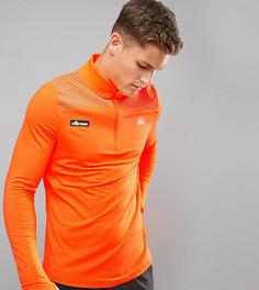 Оранжевый спортивный лонгслив с молнией до груди Ellesse - Оранжевый