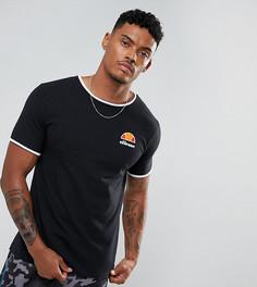 Черная обтягивающая футболка с маленьким логотипом Ellesse - Черный