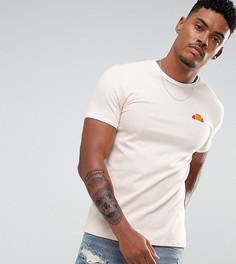 Светло-серая обтягивающая футболка с маленьким логотипом Ellesse - Светло-серый