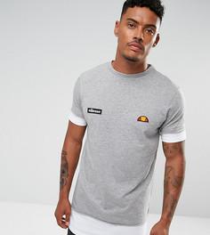 Серая двухслойная футболка с логотипом у нижнего края Ellesse - Серый