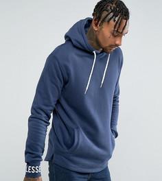 Oversize-худи темно-синего цвета с логотипом Ellesse - Темно-синий