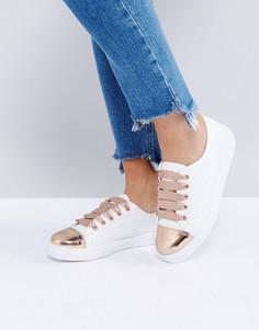 Кроссовки на шнуровке ASOS DRURY - Белый
