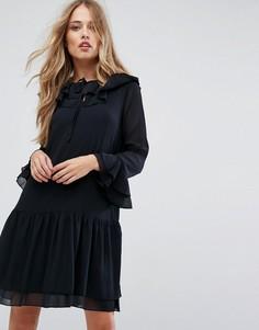 Шифоновое платье Y.A.S - Черный