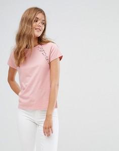 Футболка с кружевными рукавами Jack Wills - Розовый