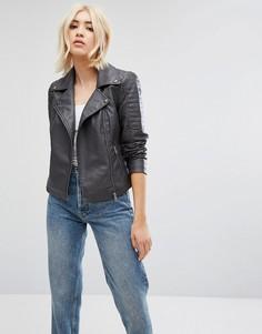 Куртка из искусственной кожи Noisy May - Серый
