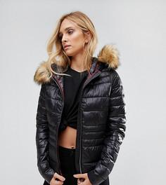 Дутая куртка с искусственным мехом Vero Moda Tall - Мульти
