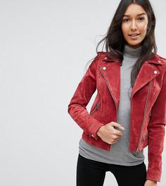 Замшевая байкерская куртка Vero Moda Tall - Красный