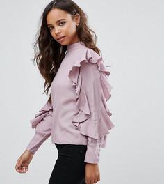 Топ с оборками Vero Moda Petite - Фиолетовый